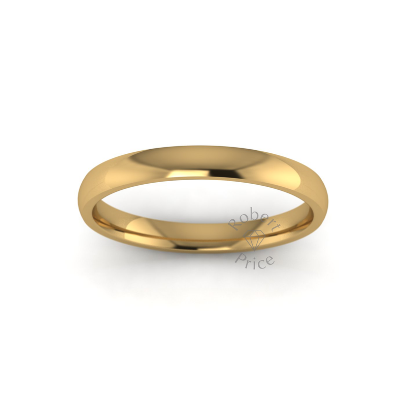 Classic Standard Wedding Ring in 18ct Yellow Gold (2.5mm)