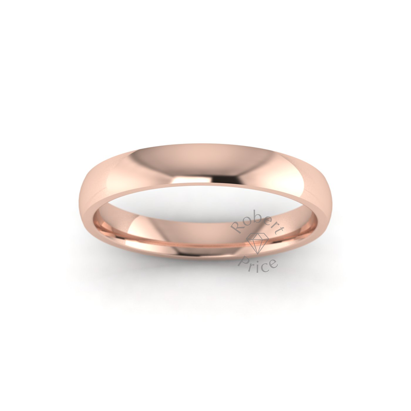 Classic Standard Wedding Ring in 18ct Rose Gold (3mm)
