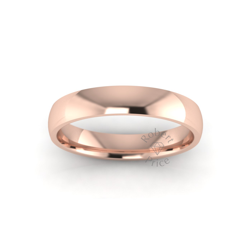 Classic Standard Wedding Ring in 18ct Rose Gold (3.5mm)