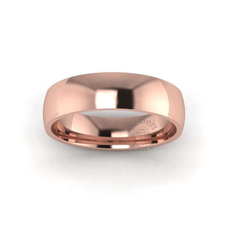 Classic Standard Wedding Ring in 9ct Rose Gold (5mm)