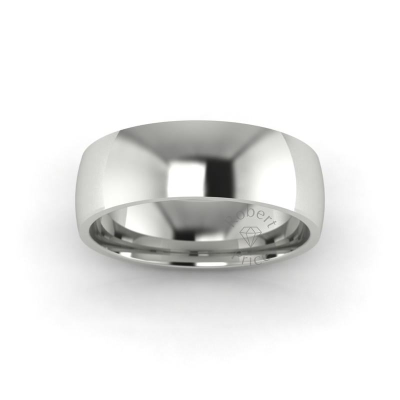 Classic Standard Wedding Ring in 18ct White Gold (6mm)
