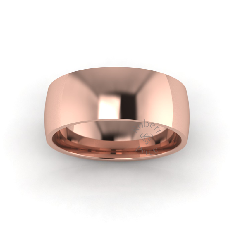 Classic Standard Wedding Ring in 9ct Rose Gold (7mm)