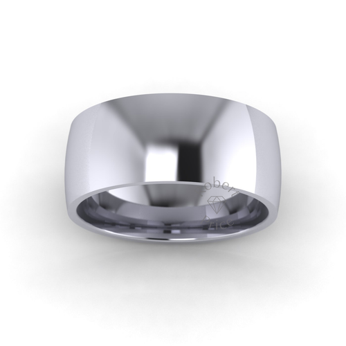Classic Court Wedding Ring in Standard Weight (8mm)