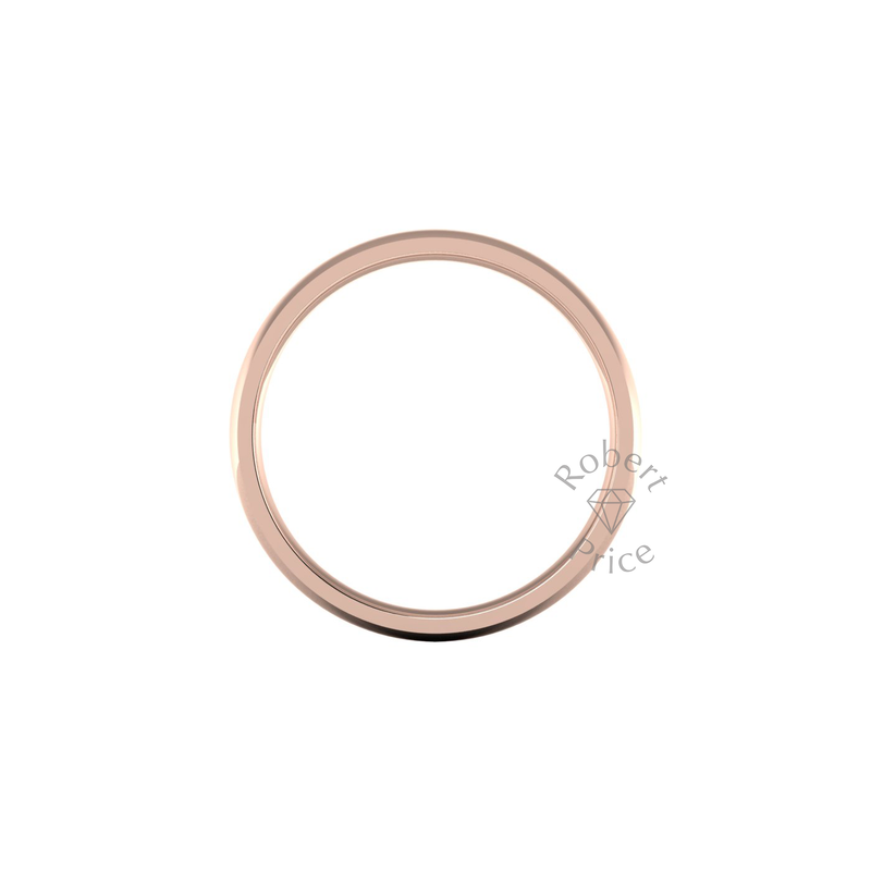 Classic Standard Wedding Ring in 18ct Rose Gold (8mm)