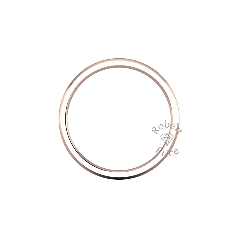 Classic Heavy Wedding Ring in 18ct Rose Gold (2mm)