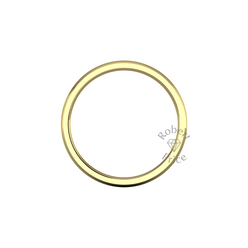 Classic Heavy Wedding Ring in 9ct Yellow Gold (2mm)