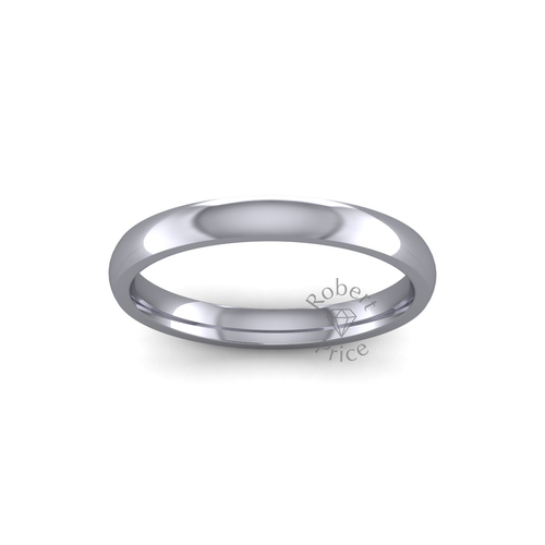 Classic Court Wedding Ring in Heavy Weight (2.5mm)