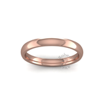 Classic Heavy Wedding Ring in 9ct Rose Gold (2.5mm)