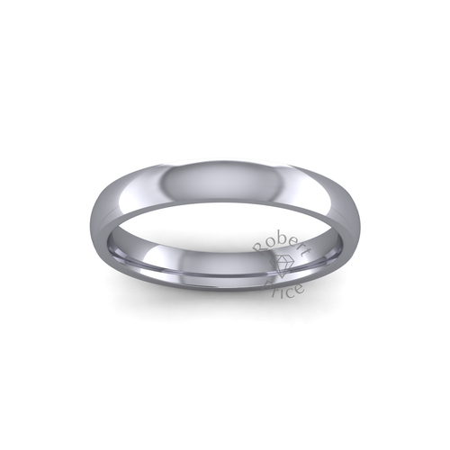 Classic Court Wedding Ring in Heavy Weight (3mm)
