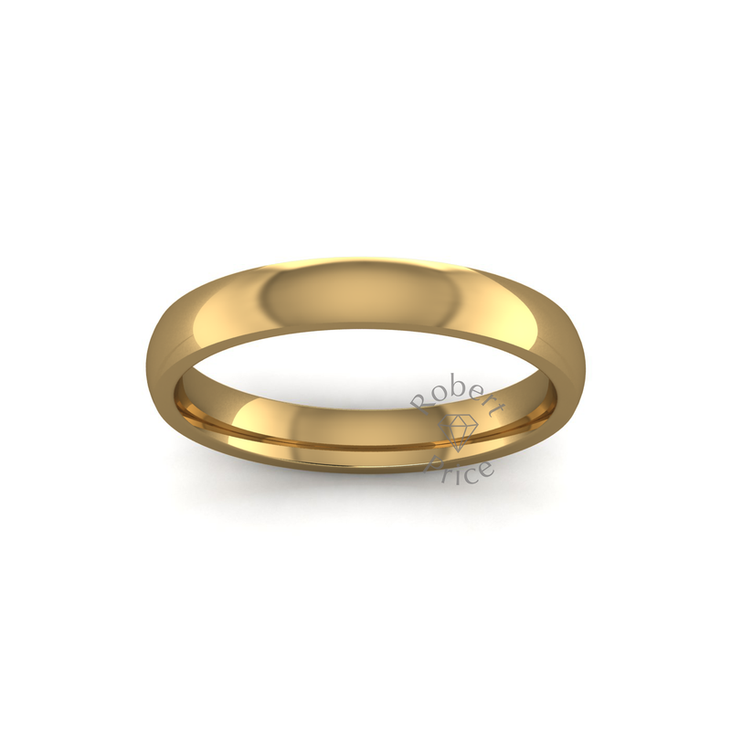 Classic Heavy Wedding Ring in 18ct Yellow Gold (3mm)