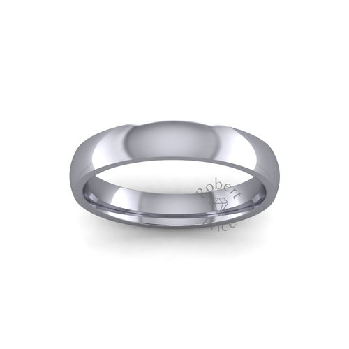 Classic Court Wedding Ring in Heavy Weight (3.5mm)