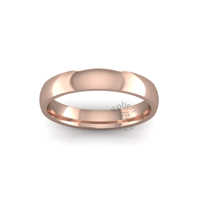 Classic Heavy Wedding Ring in 18ct Rose Gold (3.5mm)
