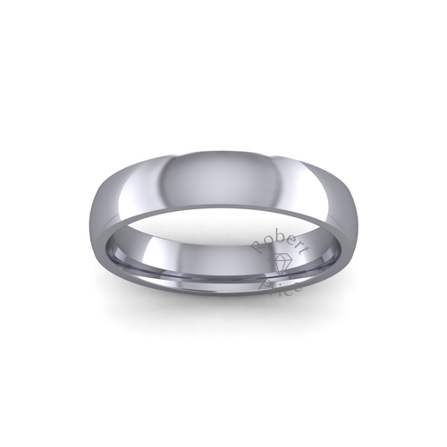 Classic Court Wedding Ring in Heavy Weight (4mm)