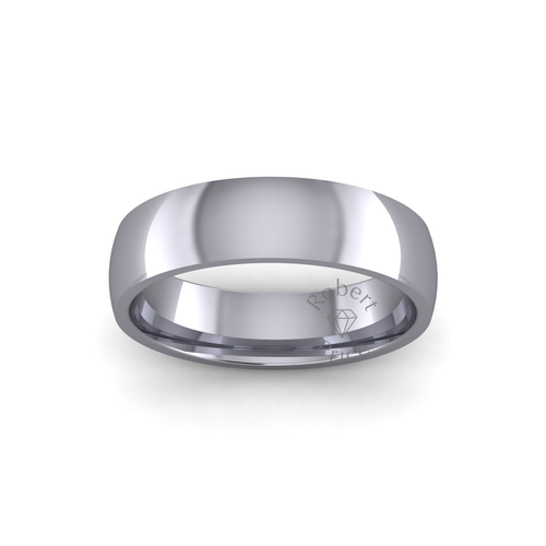 Classic Court Wedding Ring in Heavy Weight (5mm)
