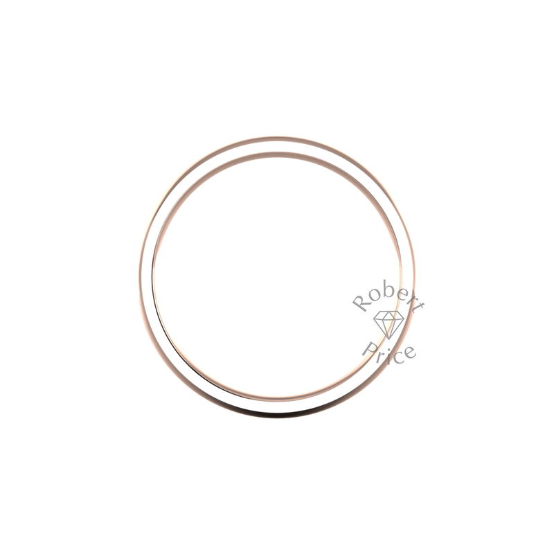 Classic Heavy Wedding Ring in 18ct Rose Gold (5mm)