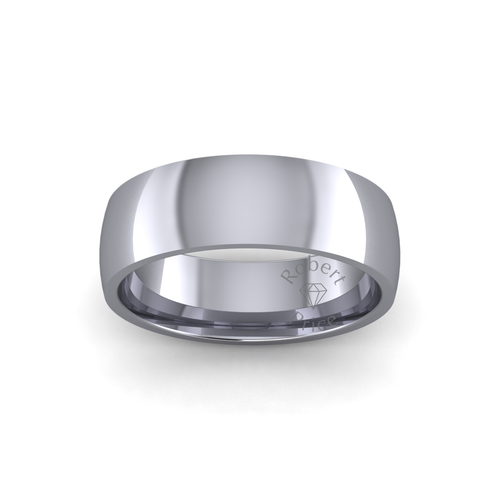 Classic Court Wedding Ring in Heavy Weight (6mm)