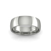 Classic Heavy Wedding Ring in 18ct White Gold (6mm)