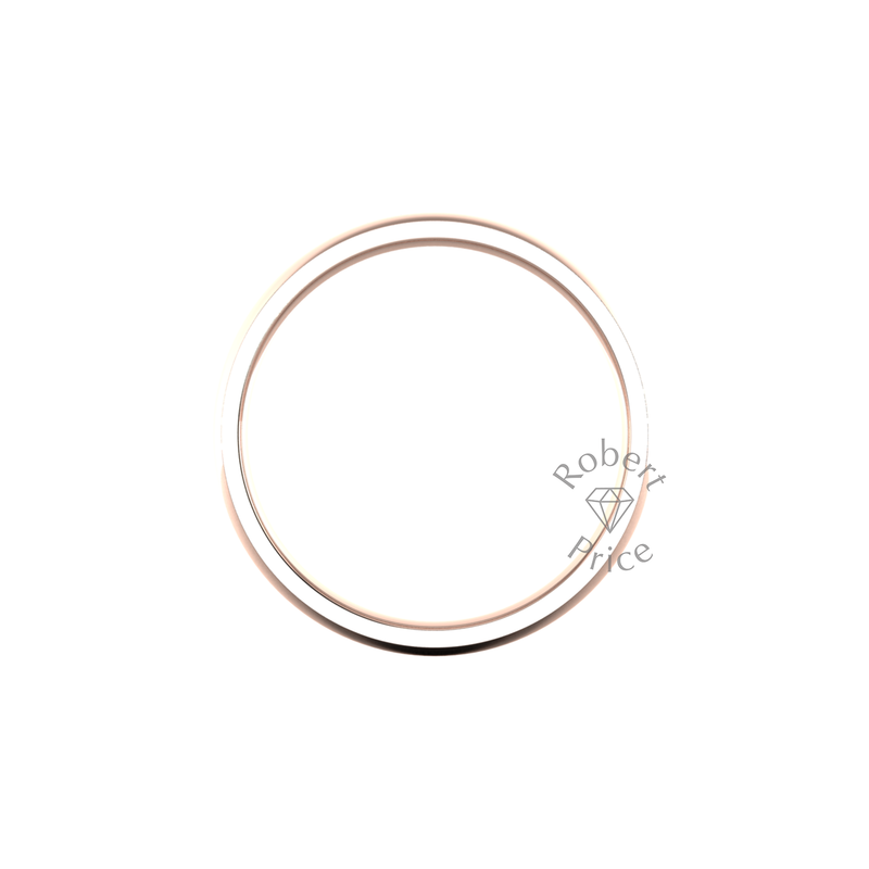 Classic Heavy Wedding Ring in 18ct Rose Gold (8mm)