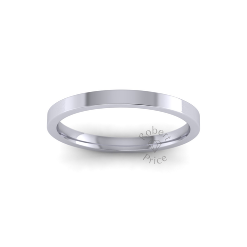 Classic Flat Court Wedding Ring in Heavy Weight (2mm)