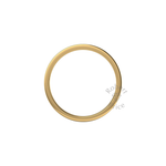 Flat Court Heavy Wedding Ring in 18ct Yellow Gold (2mm)