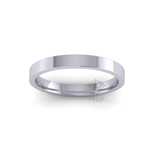 Classic Flat Court Wedding Ring in Heavy Weight (2.5mm)