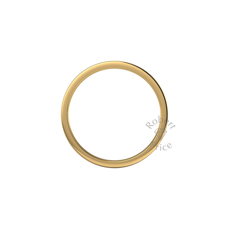 Flat Court Heavy Wedding Ring in 18ct Yellow Gold (2.5mm)