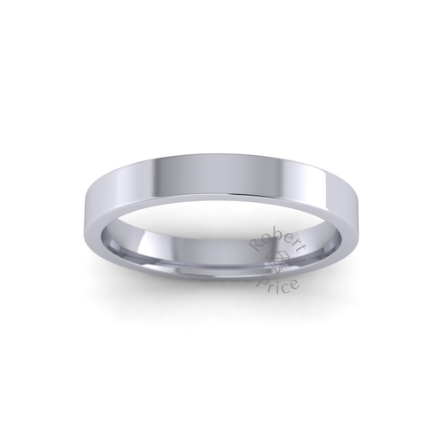 Classic Flat Court Wedding Ring in Heavy Weight (3mm)