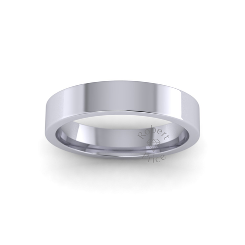 Classic Flat Court Wedding Ring in Heavy Weight (4mm)