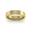 Flat Court Heavy Wedding Ring in 9ct Yellow Gold (4mm)