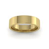 Flat Court Heavy Wedding Ring in 9ct Yellow Gold (5mm)