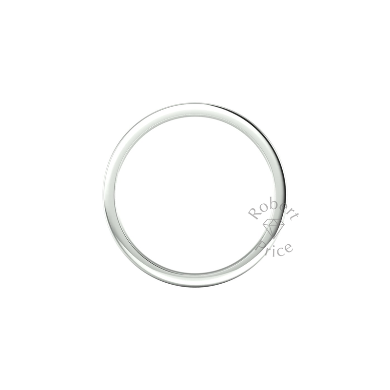 Flat Court Heavy Wedding Ring in 9ct White Gold (5mm)