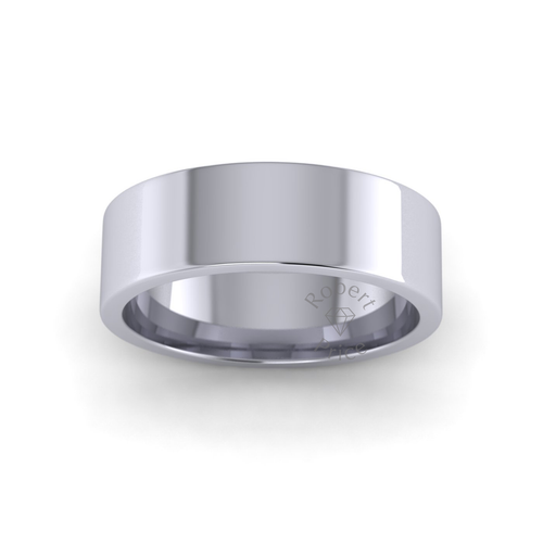 Classic Flat Court Wedding Ring in Heavy Weight (6mm)