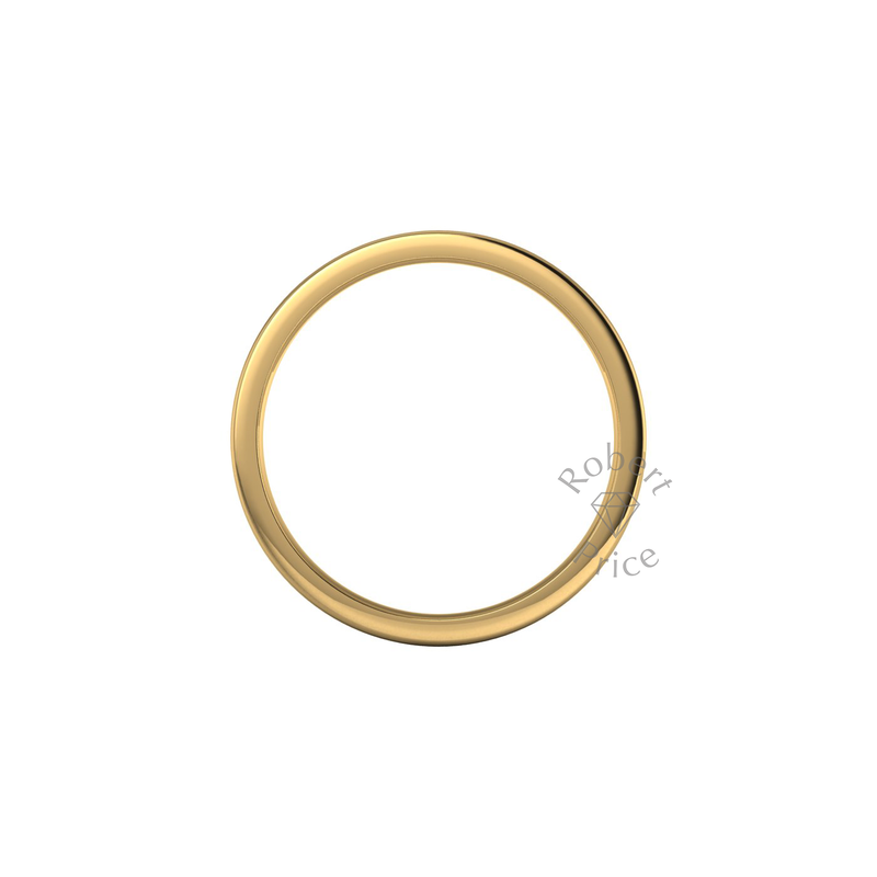 Flat Court Heavy Wedding Ring in 18ct Yellow Gold (6mm)
