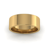 Flat Court Heavy Wedding Ring in 18ct Yellow Gold (7mm)