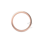 Flat Court Heavy Wedding Ring in 9ct Rose Gold (8mm)