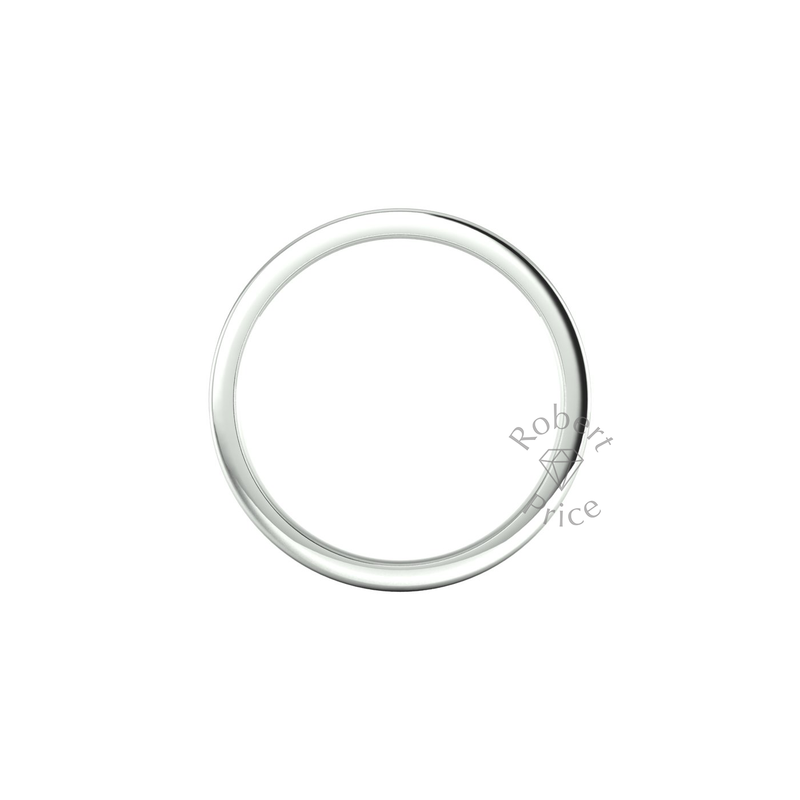 Flat Court Heavy Wedding Ring in 9ct White Gold (8mm)