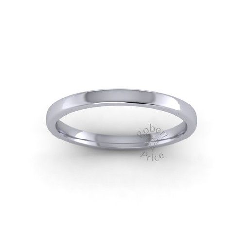 Classic Soft Court Wedding Ring in Heavy Weight (2mm)