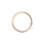 Soft Court Heavy Wedding Ring in 9ct Rose Gold (2mm)