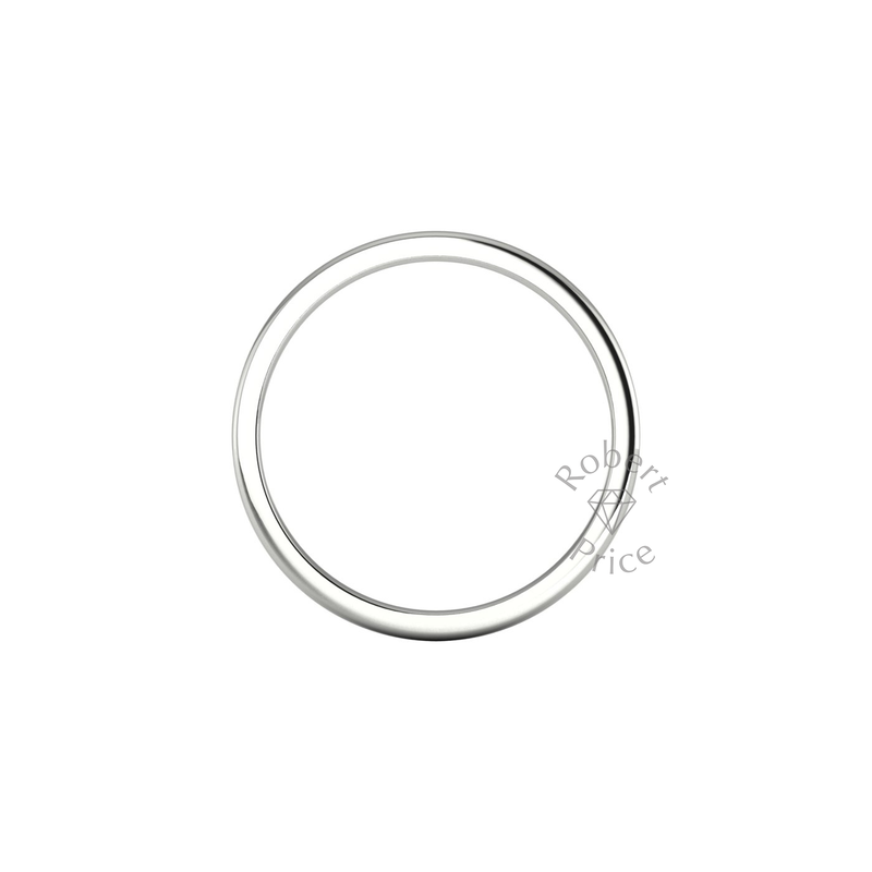 Soft Court Heavy Wedding Ring in 18ct White Gold (2mm)