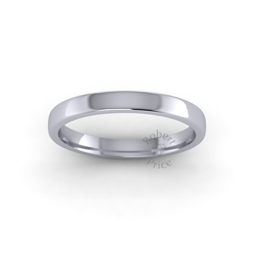 Classic Soft Court Wedding Ring in Heavy Weight (2.5mm)