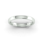 Soft Court Heavy Wedding Ring in 9ct White Gold (2.5mm)