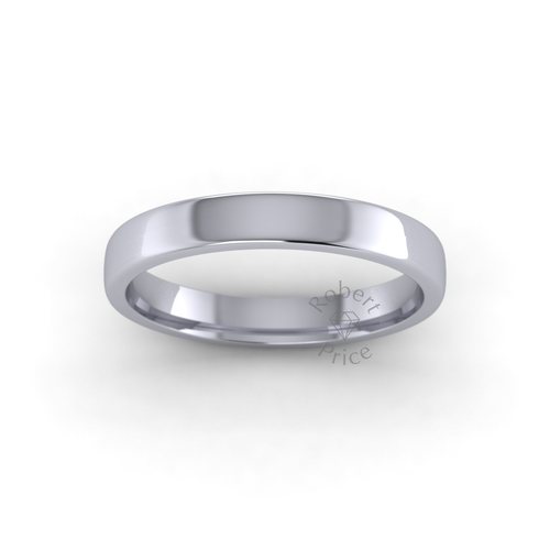 Classic Soft Court Wedding Ring in Heavy Weight (3mm)