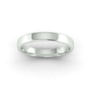 Soft Court Heavy Wedding Ring in 9ct White Gold (3mm)