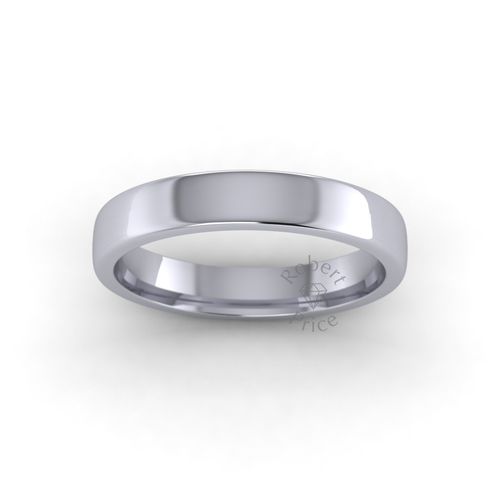 Classic Soft Court Wedding Ring in Heavy Weight (3.5mm)