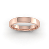 Soft Court Heavy Wedding Ring in 18ct Rose Gold (3.5mm)