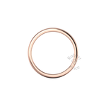 Soft Court Heavy Wedding Ring in 9ct Rose Gold (3.5mm)