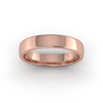 Soft Court Heavy Wedding Ring in 9ct Rose Gold (4mm)