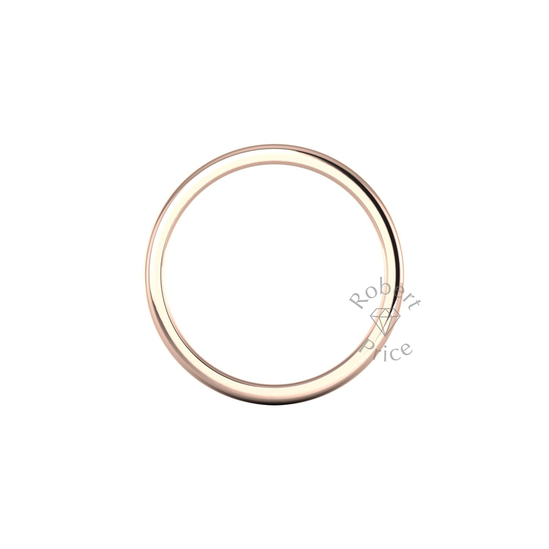 Soft Court Heavy Wedding Ring in 18ct Rose Gold (4mm)