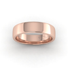 Soft Court Heavy Wedding Ring in 18ct Rose Gold (5mm)
