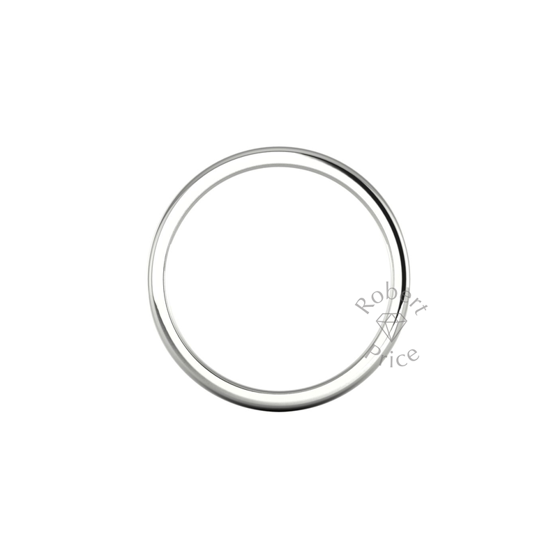 Soft Court Heavy Wedding Ring in 18ct White Gold (5mm)